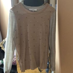 Ann Taylor Loft Leigh's Wright color block sweater